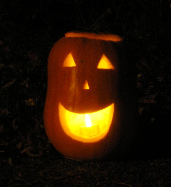 photo of happy jack-o-lantern