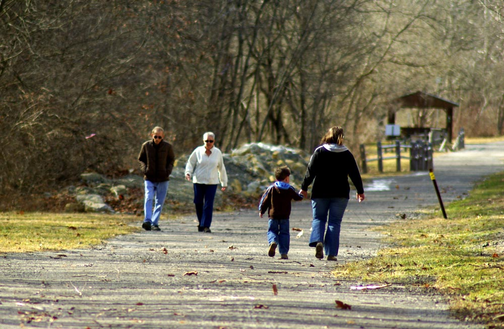 people walking on the Panhandle Trail